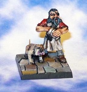 160313 mantic dungeon saga Hordin Dwarf barkeep and Gnasher