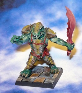 160313 mantic dungeon saga Hrrath Salamander Fighter