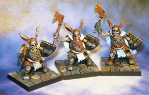 160407 Mantic Dungeon Saga Undead Dwarf Revenants x3