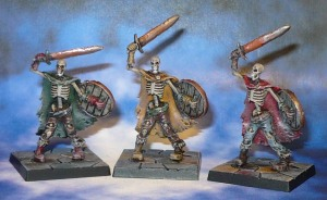 160419 Mantic Dungeon Saga Skeleton Swordsmen x3