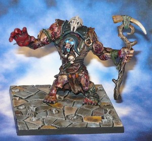 160508 Mantic Dungeon Saga Zombie Troll Shaman Hoggarth