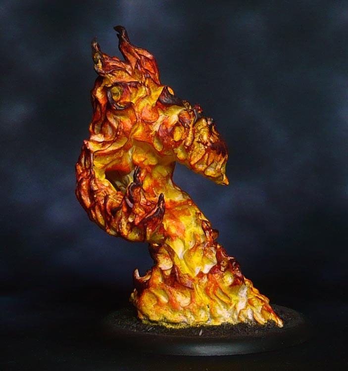Translucent Bones: Large Fire Elemental – @The Mountains ...