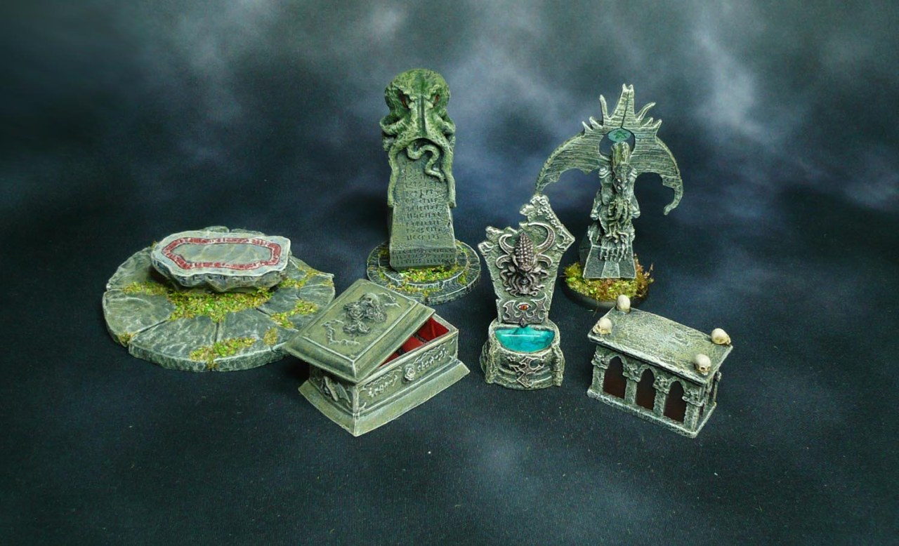 Bones: Dungeon Decor, Cthulhu Statues and more