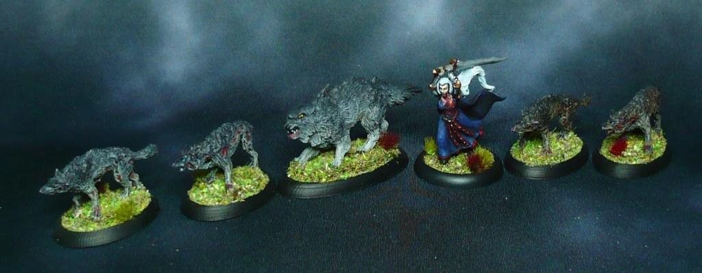 Reaper Miniatures Bones 77533 2 Dread Wolves